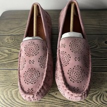 NEW Coach Crosby Driver Cut Out Tea Rose Loafers Shoes Flats Dusty Rose ... - $93.48