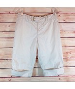 a.n.a. Ladies Women's Cuffed Cream Off-White Bermuda Shorts Size 4  - $17.00