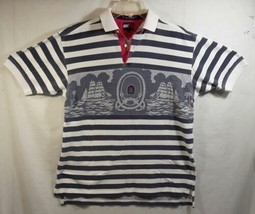 Tommy Hilfiger Men's Short Sleeve Polo Boat Sailing Graphic Nautical Sz S/P  - $37.34