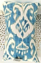 Greendale Home Fashions AZ5811S2-SEASIDE Aqua Outdoor Rectangle Throw Pillow  image 2