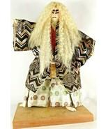 "Vtg 15"" Kabuki Doll Shishi Japanese Figure Kimono Okimono Figure Old Jap... - $280.33"