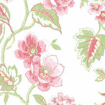 Chloe Wallpaper Red, Pink, Green Norwall Wallcovering AB42436 - $34.99