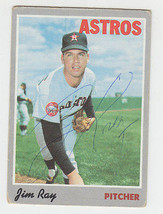 1970 Topps Signed Card Jim Ray Houston Astros Detroit Tigers # 113 Ultra Rare - $148.49