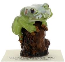 Hagen-Renaker Miniature Ceramic Frog Figurine Tree Frog on Stump image 2