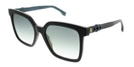 Fendi Sunglasses Women's FF0269/S KB7EZ 54MM Gray Frame / Silver Green Lens - $148.49