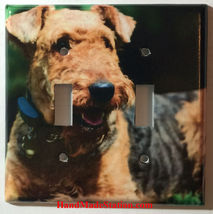 Airedale Dog Light Switch Power Outlet wall Cover Plate Home decor All size image 4