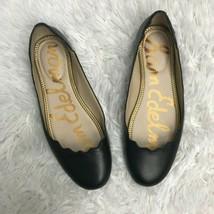 Sam Edelman Flats Black Ballet Scalloped Leather Em Finnegan Womens Size... - $44.50
