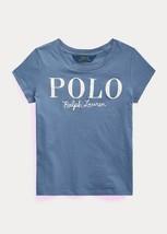 Ralph Lauren Capri Blue Girl's Cotton Jersey Logo Tee, Us 2T - $17.52