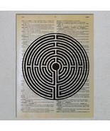 Labyrinth Greek mythology Dictionary Page Art Print - $11.00