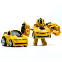 Blue mini robot car transformers action figures for children play game 07 thumb200