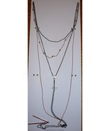 "Time And Tru Fashion Jewelry 16"" Necklace W 3"" Extender Gold & Black - $10.88"