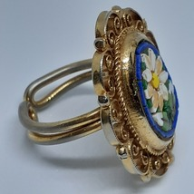 Micro Mosaic Ring Cobalt Royal Blue Vintage 40's - 50's image 6