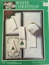 White Christmas Counted Cross Stitch Sal-Em Table Linens Carolina Clare ... - $4.50