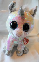 """2018 Ty Flippable Diamond the Unicorn 10"""" White and Pink - $37.62"""