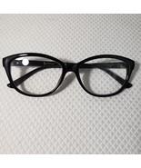 New Betsey Johnson +1.50 Cat Eye Reading Glasses Black Frame Pinup Retro - $37.09