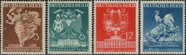 1941 Vienna Fair Set of 4 Germany Postage Stamps Catalog Number 502-05 MNH
