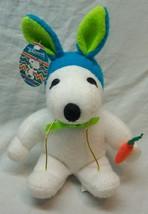 "Peanuts EASTER SNOOPY W/ BLUE BUNNY EARS & CARROT 8"" Plush Stuffed Anima... - $14.85"