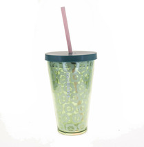 STARBUCKS Grande Green Floral Blossom Pink Straw Cold Cup Acrylic Tumble... - $38.60