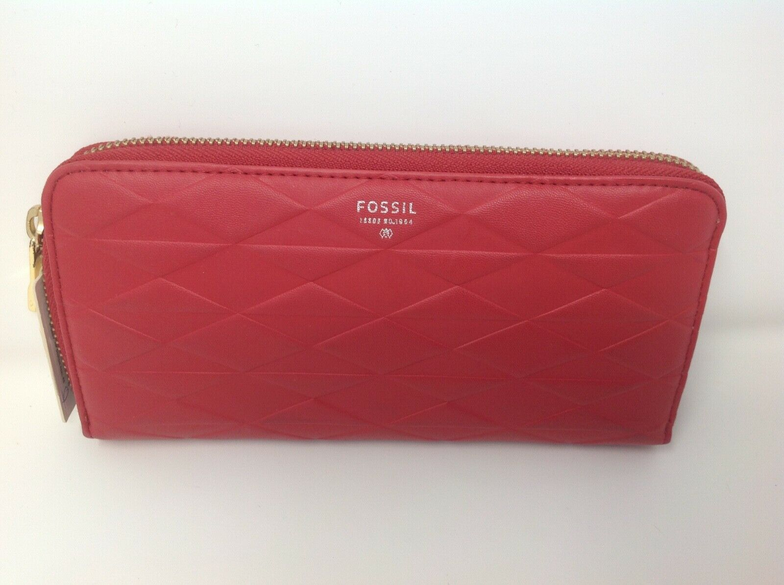 Fossil Sydney Zip Clutch Real Red
