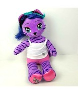 Build a Bear Workshop Honey Girl Purple Tiger Cat Teegan Stuffed Plush 1... - $14.85