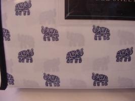 Cynthia Rowley Navy Fancy Elephants on White Microfiber Sheet Set Full - $46.00