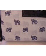 Cynthia Rowley Navy Fancy Elephants on White Microfiber Sheet Set Full - $46.00