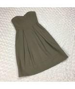 H&M Gray Sleeveless Strapless Pleated Dress Zippered Back 2 Front Pocket... - $14.95