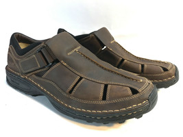 TIMBERLAND brown oiled leather comfort athletic fisherman loafers 12W FREE SHIP! - $54.40