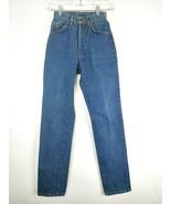 VTG LEE Women's Dark Wash Denim High Rise Tapered Jeans Size 22x32 - $99.00
