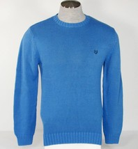 Chaps Blue Crewneck Cotton Knit Sweater Mens NWT - $44.99