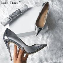 Leather Road Dress Pumps Shoes PU Pointed Track Autumn Pumps Spring L Toe Women 8rBTqUA8