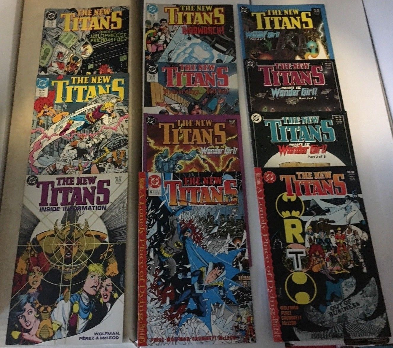 The New Teen Titans 51 - 61 1989 NM Condition DC Comic Book Lot 11 WONDER GIRL