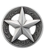 """F9951-SRTP 1 and 1/8"""" Raised Star Engraved Concho 10pcs Antique Silver - $25.73"""