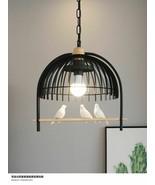 Modern Iron Lamp Bird Cage Shaped Pendant Hanging Light Lamp Fixtures Luminaire - $166.31 - $187.10