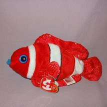 "Jester Clown Fish Ty Beanie Baby Plush Stuffed Animal 8"" Long Red White ... - $20.99"