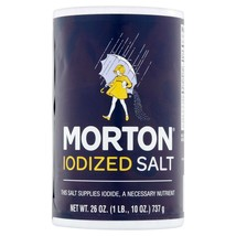 (2 pack) Morton Iodized Table Salt, 26 Oz - $0.98