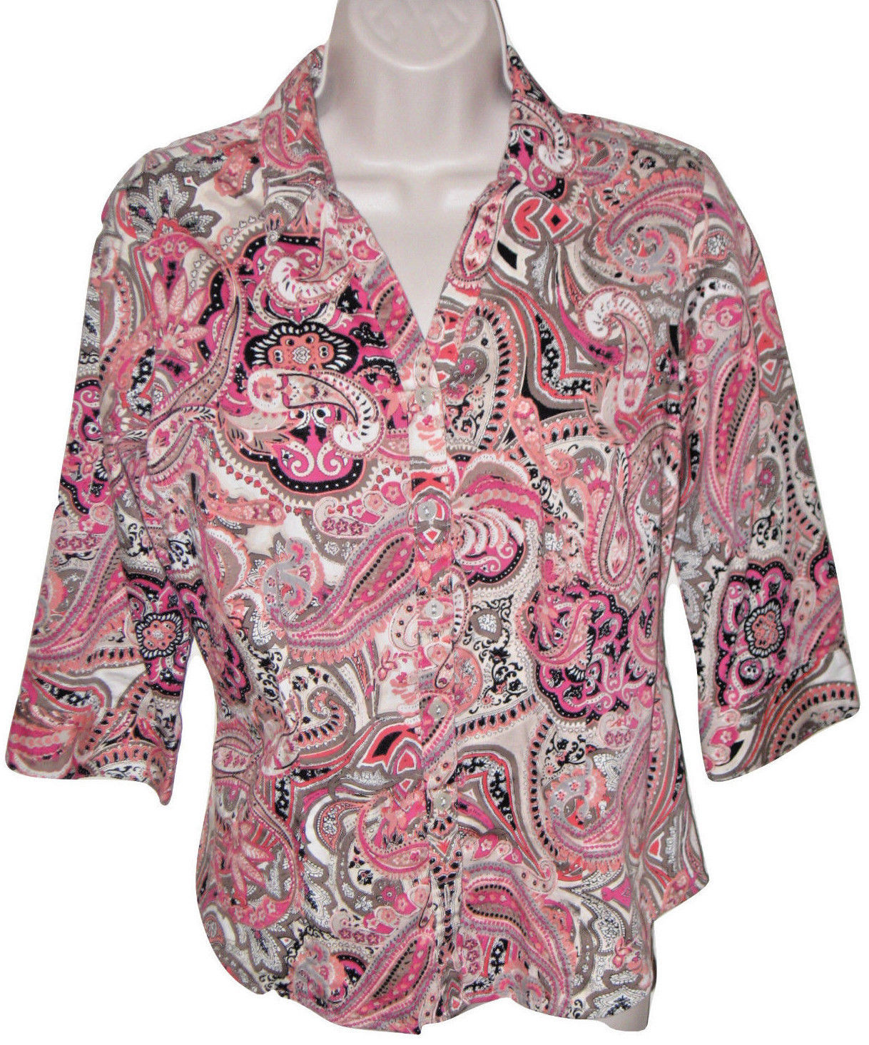 f09e7b7fabd28e 212 COLLECTION Size PM/ M Pink Paisley 3/4 and 50 similar items