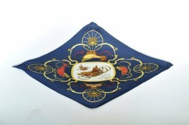 "HERMES Pleated Scarf ""SERENITE"" 100% Silk Navy Auth 5151 - $210.00"