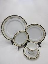 Nwt Noritake Bone China Darnell 5PC Place Dinner Settings Plates & Cups Gold Rim - $28.26