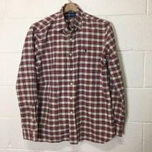 Ralph Lauren Men's Shirt Custom Fit Long Sleeve Size L Plaid Dress Shirt  - $12.19