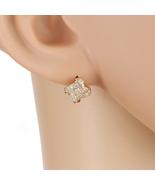 UE- Elegant Rose Tone Designer Love Knot Earrings With Swarovski Style C... - $14.99