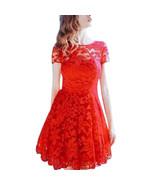 Dress stylish Lace V-Neck Short Sleeve o-neck Casual mini S M L XL - $21.99+
