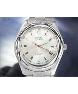 Mens Guess Waterpro 40mm All-Stainless Steel Quartz, c.2000s TD690 - $347.09