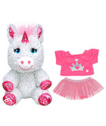 Build a Bear Buddies Baby Unicorn 2 pc. Princess Outfit 7in. Stuffed Toy... - $49.95