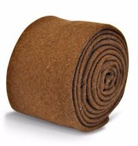 Frederick Thomas mens 100% wool tie in light brown FT3117