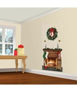 Holiday Fireplace Scene Setters Add-ons Wall Decoration Christmas - $4.35
