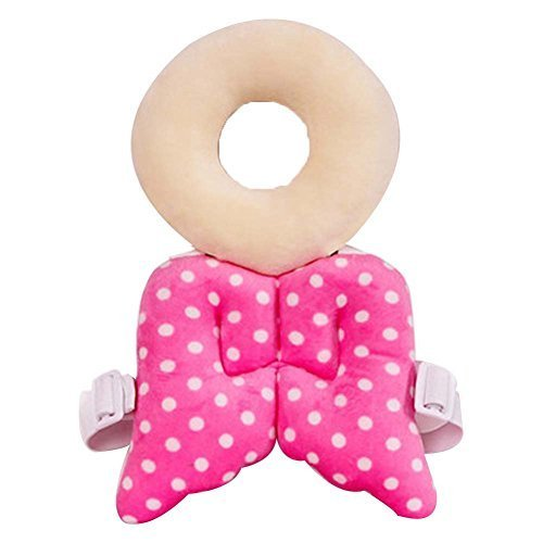 Safety Cap Baby's Dot Wings Baby's Head Protection Pad Headrest Angel Hat
