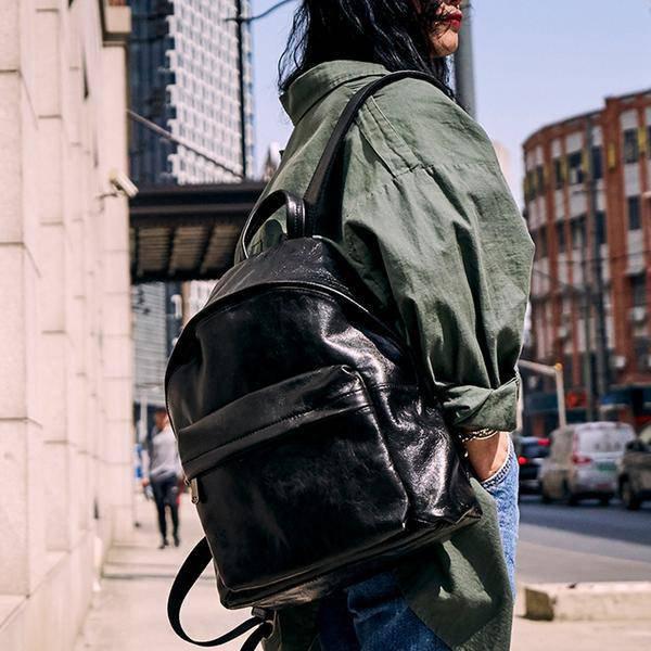 Sale, Full Grain Leather Women Backpack, Handmade Travel Backpack, School Backpa image 3