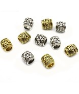 20 Pieces Caribbean Pirates Beard Beads Charm Bracelet Beads Sliver Gold... - $7.29