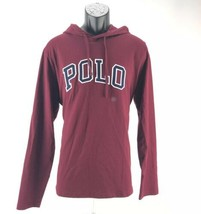 Polo Ralph Lauren Mens T-Shirt Long Sleeve Hoodie Tee Size Large Burgund... - $29.02